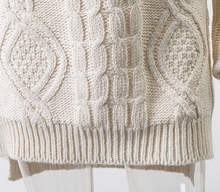 Victoria Cable Knit Mini Turtleneck Sweater Dress
