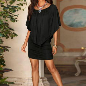 Women Sexy Off Shoulder Ruffle Mini Dress