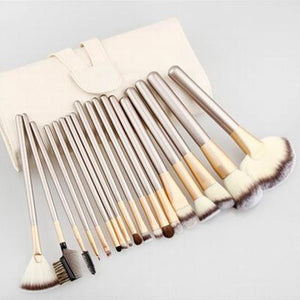 traveling makeup brush kit - 18 pc set with case to keep makeup clean