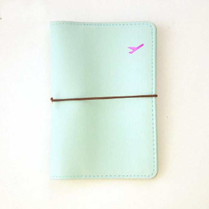Travel Faux Leather Passport Card Case