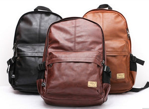 Travel Leather Backpack