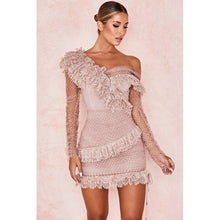 Drea Kentucky Derby Off Shoulder Blush Lace Dress