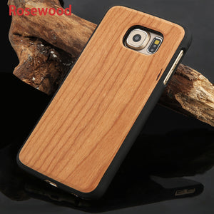 Fashion Phone Case w/ Hard Protector Wooden Shell
