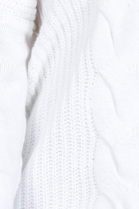 White Knitted Light Pull Over Sweater