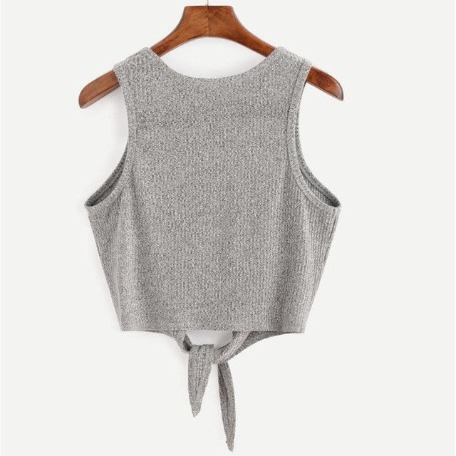 Sleeveless Vest Crop Top