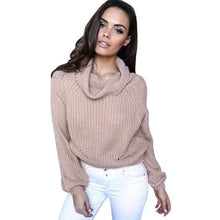 Pullover Crop Top Knitted Sweater