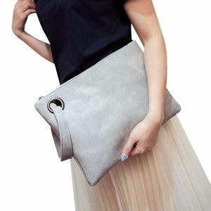 Leather Envelope Fashion Clutch