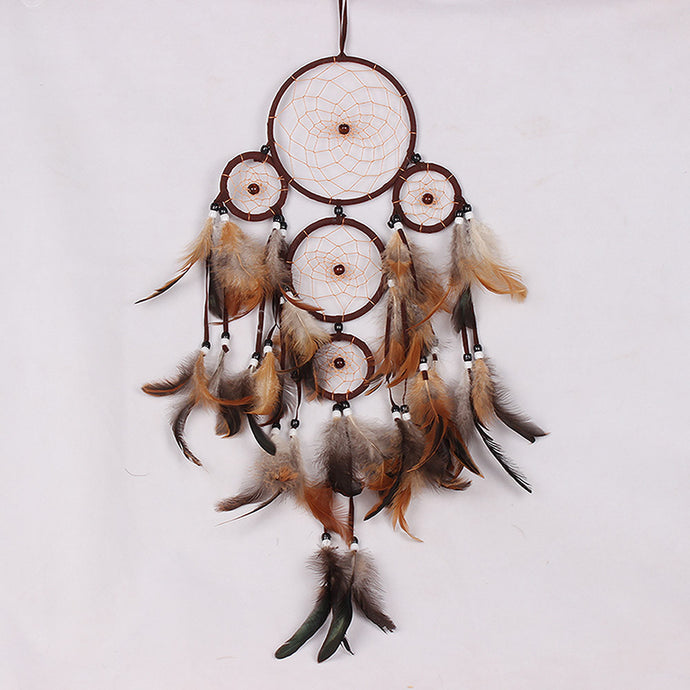Feather Dream Catcher Wall Hanging