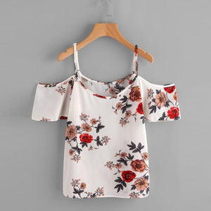 Drea Off Shoulder Floral Cami