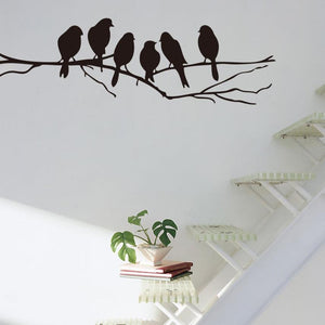Super Deal 2016 Wall stickers Decal Removable Black Bird Tree Branch Art Home Mural Decor vinilos paredes  XT