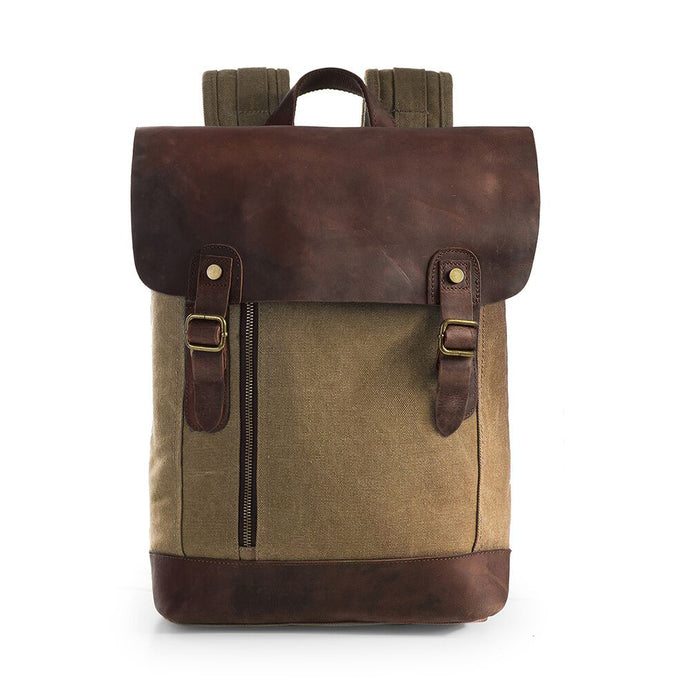 Vintage Canvas Leather Laptop Travel Bags