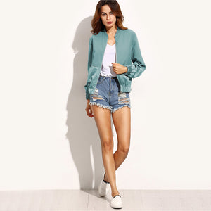 Two Toned Bomber Jacket (Green)