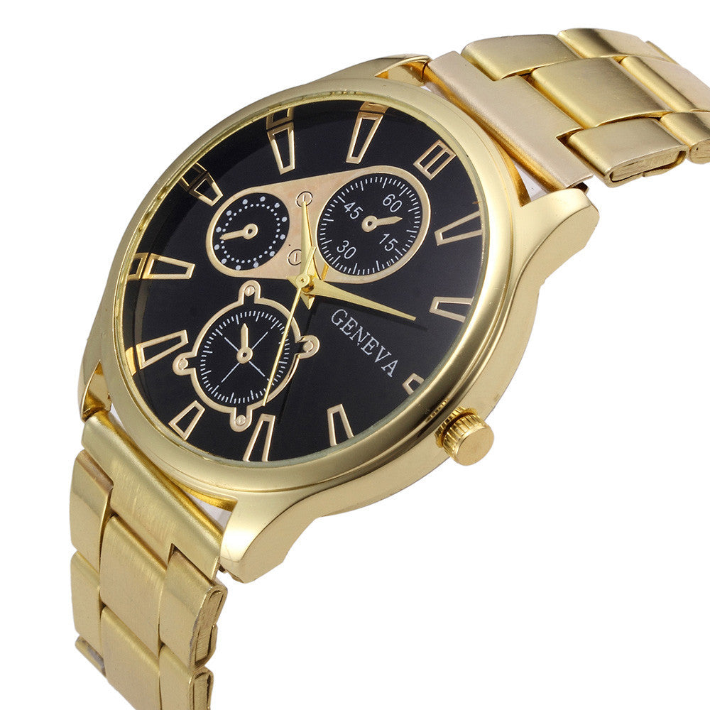 Fashion Crystal Stainless Steel Analog Quartz Wrist Watch