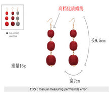 Threaded Three Ball Drop Fashion Earrings Size Chart
