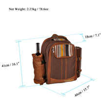 Water Proof Picnic Backpack with Cooler/Warmer & Wine Holder