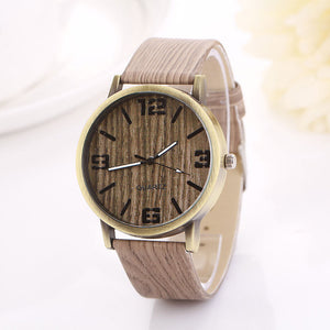 Vintage Wood Grain Watches Fashion Women Quartz Watch Wristwatch