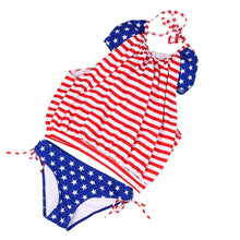 Bikini Flag Printed Swimsuit