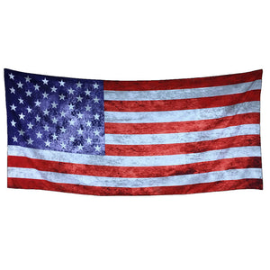 Rectangle Flag Print Beach Towel