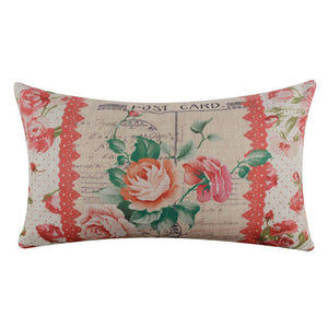 Vintage Floral Decorative Cushion Pillow Cover