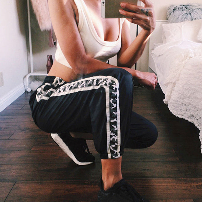 Camouflage Band Joggers