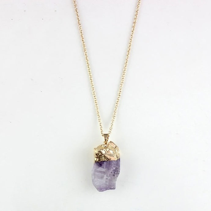 Classic Women Healing Quartz Necklace