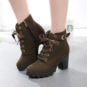 All Laced Up Ankle High Fashion Boots