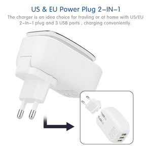 Travel Wall Charger Adapter & LED Night Lamp