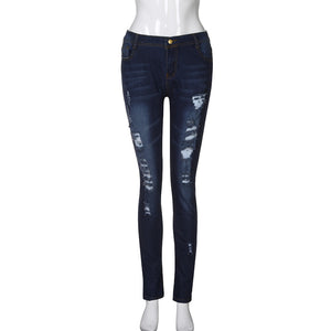 Skinny Ripped High Waist Jeans