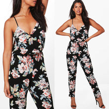 Floral Printed Sleeveless Jumpsuite