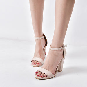 One Strap Rose High Heels