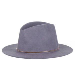 Soft Vintage Wide Brim Wool Fedora