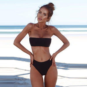 Two Piece Tube Top Bikini