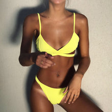 Sunny Yellow Two Piece Swimsuit