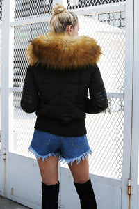 Hooded Fur Thick Jacket
