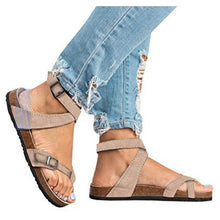 Cross Toe Double Buckle Strap Jesus Sandals