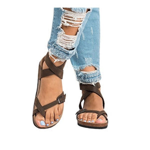 1f2105fe2 Cross Toe Double Buckle Strap Jesus Sandals