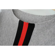 Sporty Stripped Knitted Sweater
