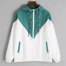 Two Tone Hooded Windbreaker