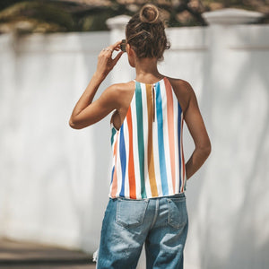 Colorful Striped Halter