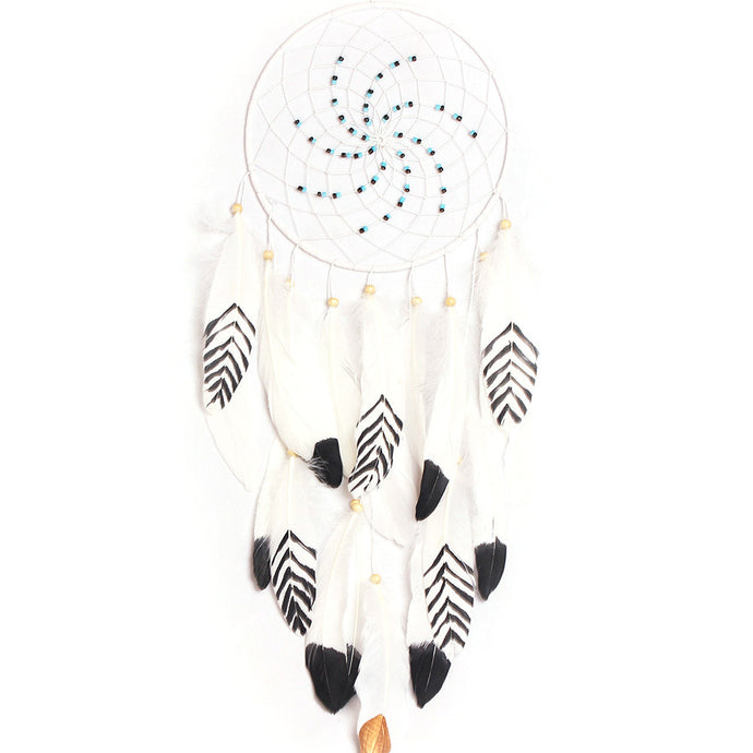 Boho Own The Night Dream Catcher Feather Wall Hanging
