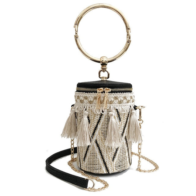Bohemian Nights Cylinder Statement Purse
