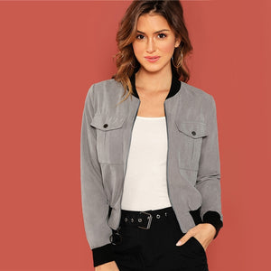 Fashion Zip Bomber