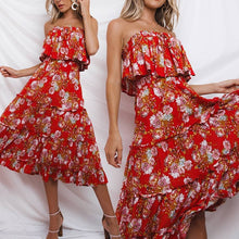Boho Floral Print Beach Sundress
