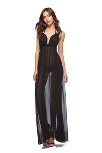 Sexy Backless Maxi Beach Coverup