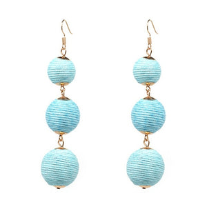 Drop Earrings Baby Blue