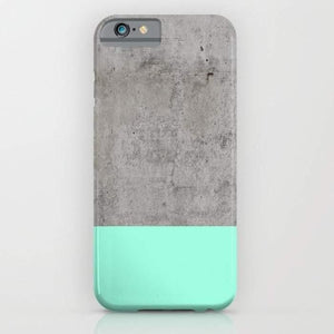 Sea Foam Concrete Mobile Cover