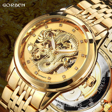 Luxury Dragon Skeleton Automatic Mechanical Watches For Men