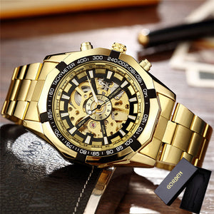 Gold Bracelet Wristwatch Luxury Brand