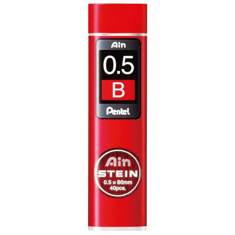 Pentel Ain Stein Leads B 0.5mm Tube/40 Bx12 -12 units