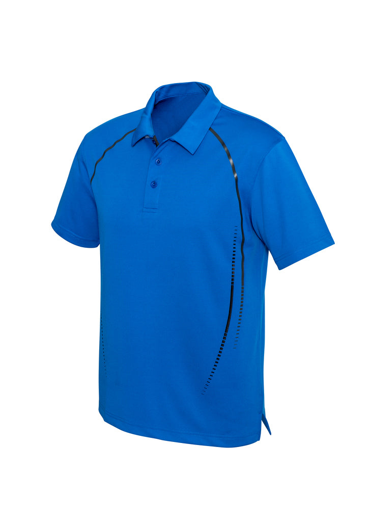 Mens Cyber Polo - Royal/Silver - Size M